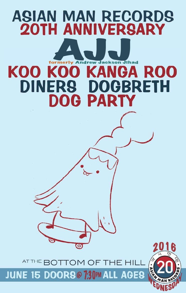 bottomofthehill: AJJ ~ Koo Koo Kanga Roo ~ Dogbreth ~ Diners