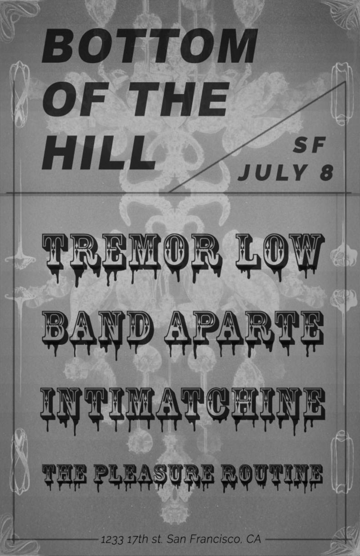 bottomofthehill: Tremor Low ~ Band Aparte ~ Intimatchine ~ The ...
