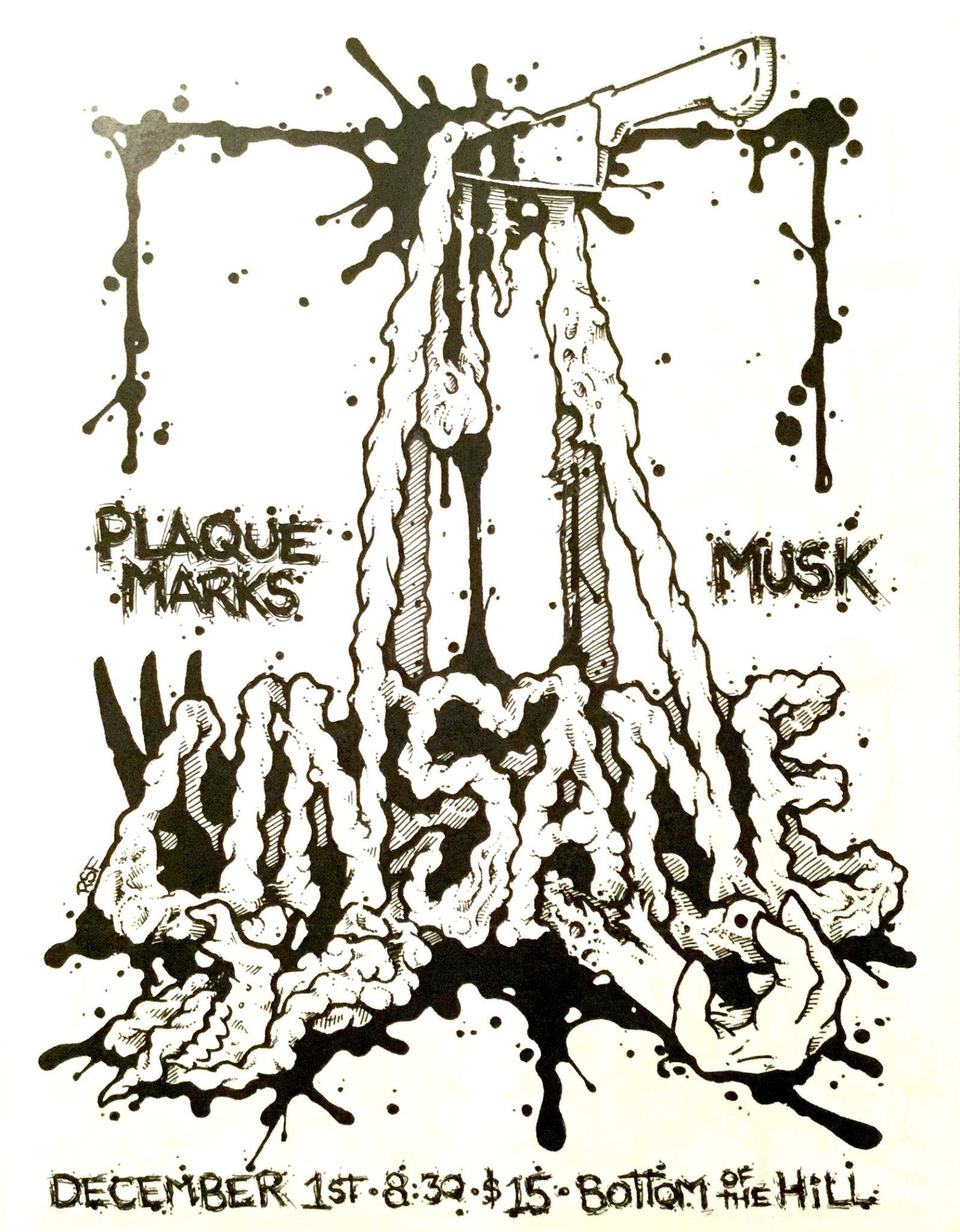 Bottomofthehill unsane plaque marks musk dj sasquatch 830pm doors music at 900pm all ages 15 unsane unsanenyc noise rock plaque marks facebookplaquemarks punk noise rock malvernweather Choice Image