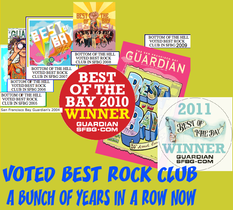 VOTED BEST ROCK CLUB A BUNCH OF YEARS IN A ROW NOW